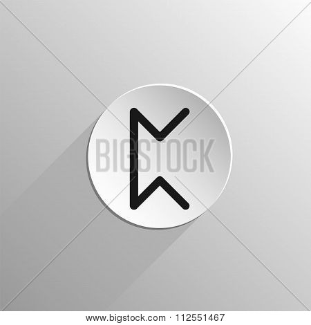 magic, black icon rune Perth on a light background with long shadow poster