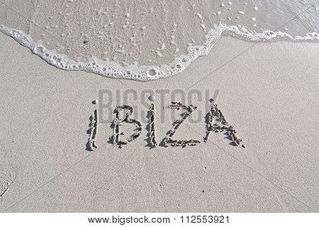 Ibiza Written In Sand