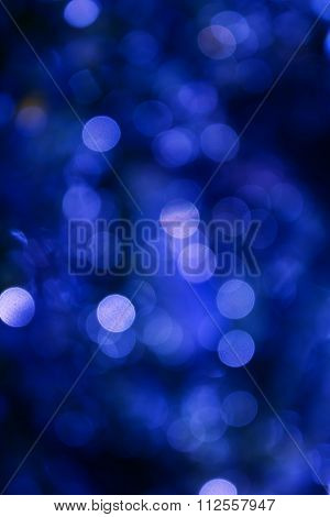 Colourful Spark And Blow Natural Bokeh  In Dark Blue Colour Tone Light Background
