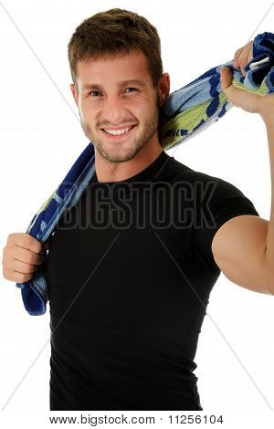 Young Sporty Caucasian Man