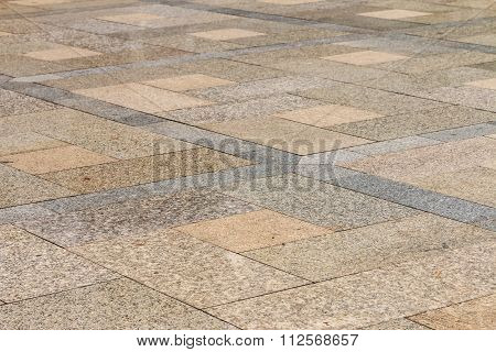 Closeup Of The Granite Pathway Texture
