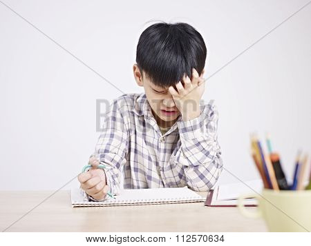 Asian Child Frustrated