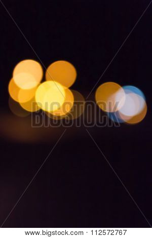 Colourful Shining And Glow Light Bokeh At Night