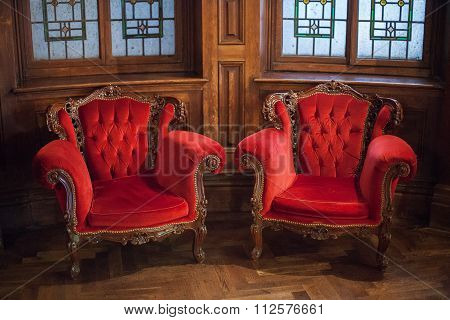 Red Velvet Chairs