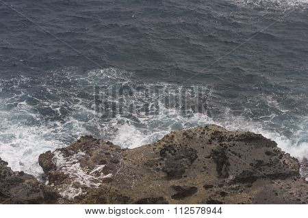 Wave and rock formation in Batanes island, Phillipines.