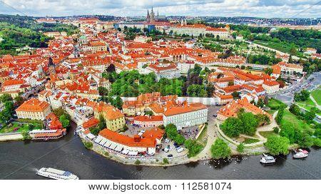 Area Lesser Town Of Prague, Near The Church Saint Vitus, Ventseslaus And Adalbert. Czech Republic.