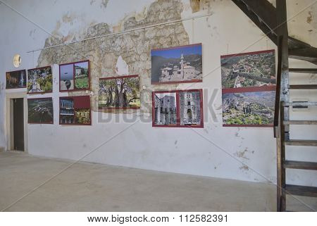 Exhibition of historical photos in the old palace.