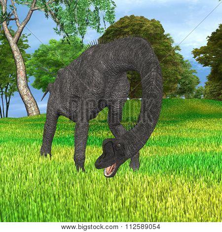 Dinosaur Brachiosaurus In Park