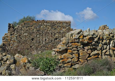 Ruined Wall From A  Forgotten Farm