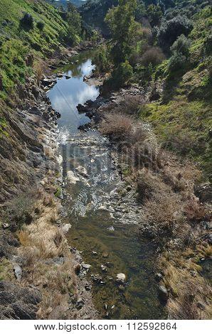 Oeiras Creek Stream In Alentejo