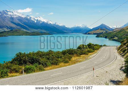 Road by the Lake Wakatipu, Glenorchy