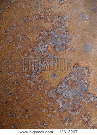 Abstract Blotch Pattern Rusty Effect Brown Tile Close Up