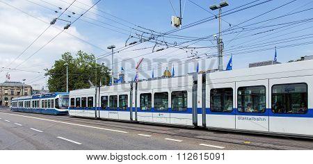 Trams In Zurich