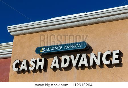 Advance America Cash Advance Storefront And Logo