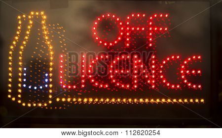 Off Licence Liquor Store Neon Light Sign