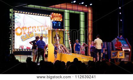 Game show aboard the Carnival Breeze