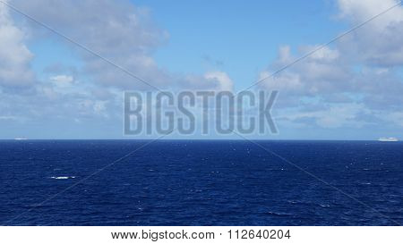 View of the Atlantic Ocean from a Cruise Ship