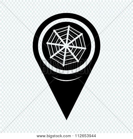 Map Pointer Web Net Icon