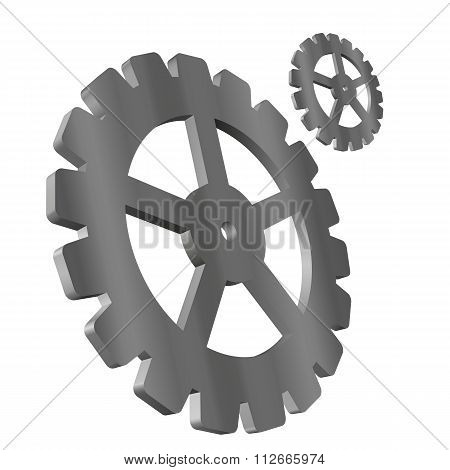 Vector illustration of 3d gears