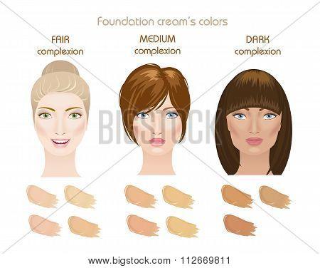 Foundation cream colors.