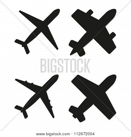 Vector illustration of black planes