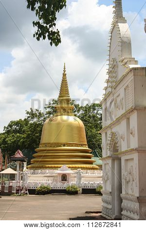 Golden Stupa Pagoda At Dambulla, Sri Lanka