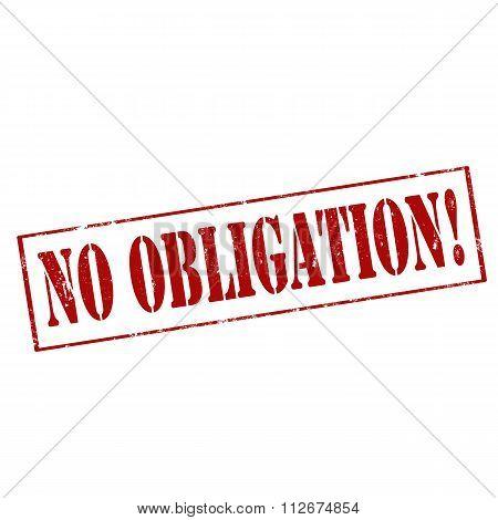 No Obligation!-stamp
