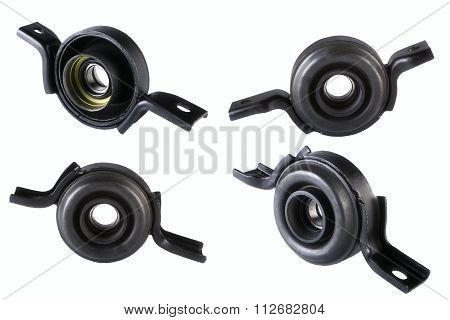 Spare parts cardan shaft bearing for car isolate on white background