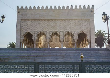 Mausoleum Of Mohammed V And And Hassan Ii In Rabat.