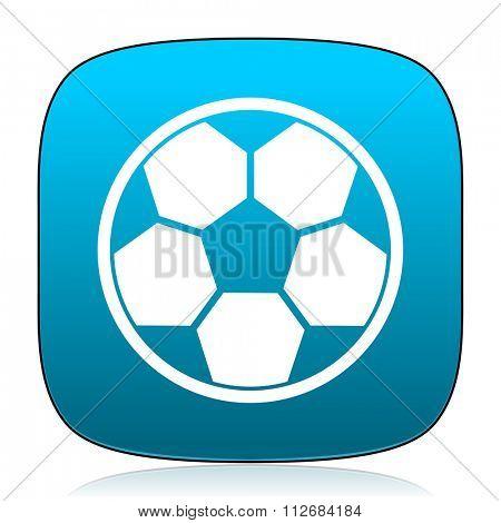 soccer blue icon
