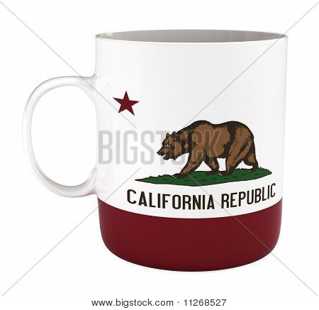 Mug with California Flag, Isoalted on White