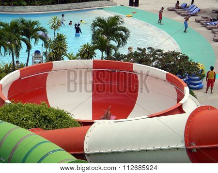 Tube Slide at the Imperial Palace