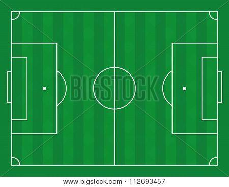 Vector illustration of a football field