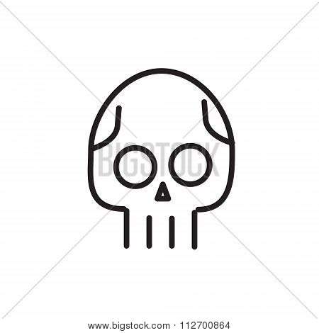 Skull line icon. Danger concept illustration. Line style