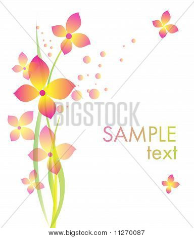 Background With Flowers