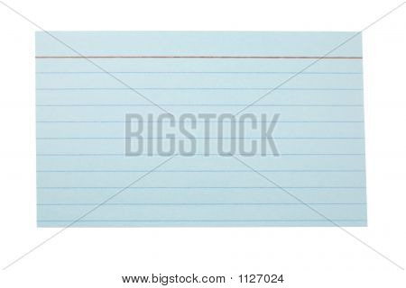 Index Card Lined Blue