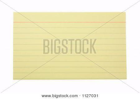 Index Card Lined Yellow