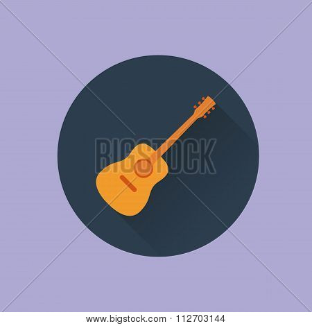 Vector illustration icon guitar flat