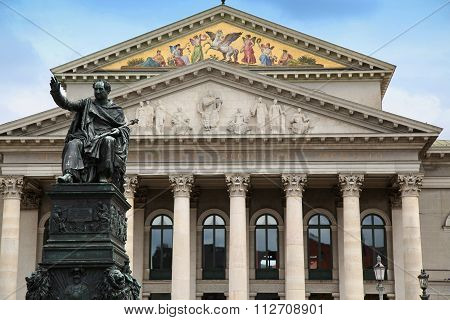 The National Theatre Of Munich At Max-joseph-platz Square In Munich, Germany