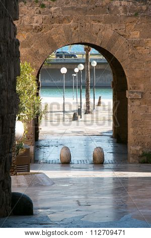 Street In Old Town Palma, Mallorca, Parc De La Mar, Majorca