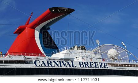 Carnival Breeze docked in La Romana, Dominican Republic