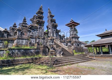 Entrance To Pura Besakih Balinese  Temple