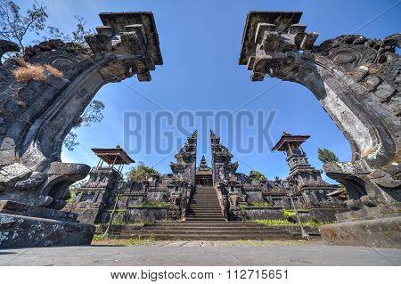 Gates To Pura Besakih Balinese  Temple