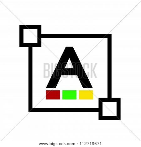 images of Text color font edit letter icon poster