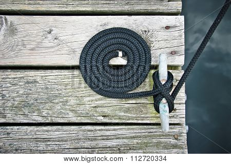Flemish Coiled Rope on Dock