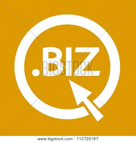 Domain Dot Biz Sign Icon Illustration