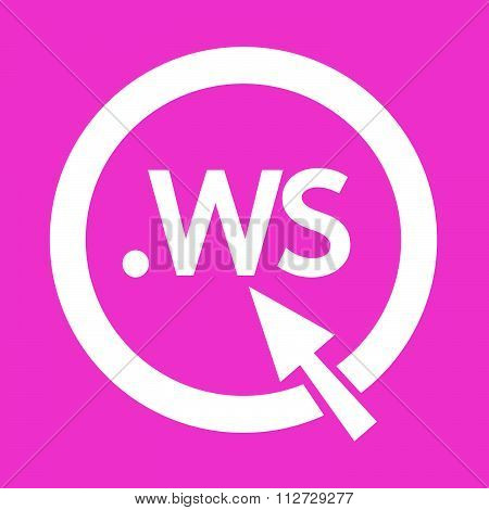 Domain Dot Ws Sign Icon Illustration