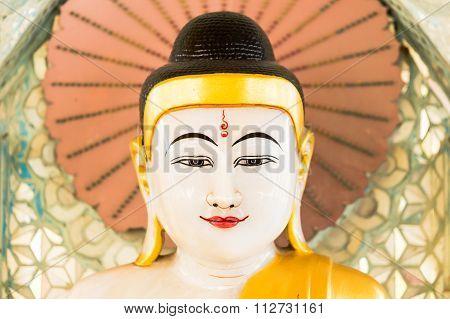 Buddha image in budhist temple, Bagan Myanmar.