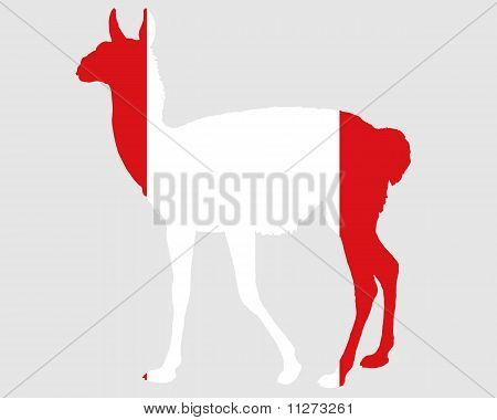 Detailed and colorful illustration of guanaco Peru poster