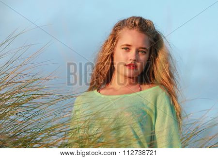 Blonde Lady In The Long Grass